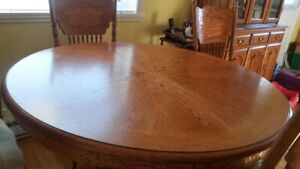 5Pc. Oak Table & Chairs