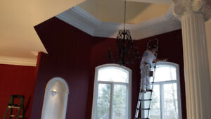 ACCENT WALLS CATHEDRAL CEILINGS !! 1 DAY - SPRAYING 647-677-5659