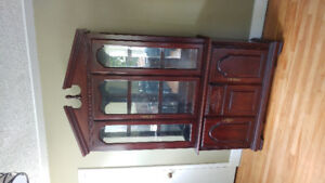 SOLD! Real Wood Display Cabinet