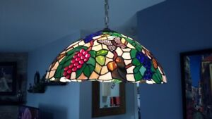 Tiffany Style Stain Glass Light Fixture