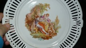 "ANTIQUE BEAUTIFUL ""SCHWARZENHAMMER"" PORCELAIN LATTICE PLATE Kitchener / Waterloo Kitchener Area image 4"