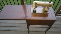 Brother Super Flairmatic Model 190B Sewing Machine w/table