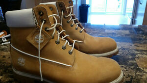 Men's TIMBERLAND tan boots SIZE 13 with DRY ERASER!