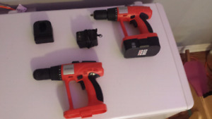 Pair of Cordless Drills with One Battery & Charger