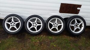 Toyota 5x100 alloys with 205/55R16 tires $275