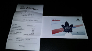 $80 Tim Horton's gift card