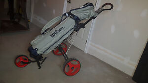 Golf Clubs with bag and pull cart Kawartha Lakes Peterborough Area image 2