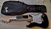 Black Squier Affinity Stratocaster with Amp