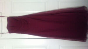 MoriLee flare Burgundy Dress