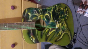 Custom air brushed acoustic guitar