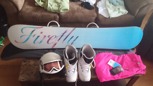 Snowboard with accessories!