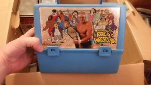 Rock n wrestling Hulk Hogan lunch pail WWF