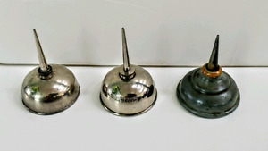 Three Vintage Sewing Machine Oil Cans