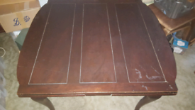 Original 70s SOLID Dark Wood Expandable Dining Table