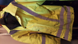 High Viz Waterproof insulated jacket and pants