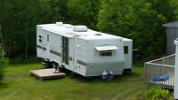 Travel Trailers for rent on private property