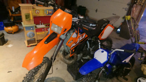 Blue plated ktm exc 300