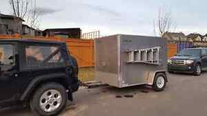 5x8 heavy duty enclosed trailer