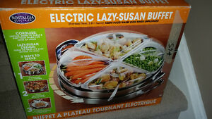 Heated electric lazy susan buffet Kitchener / Waterloo Kitchener Area image 1