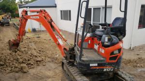 Digger excavator hire