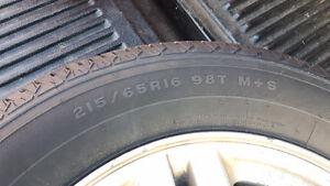 215/65R16 firestone tire and rims