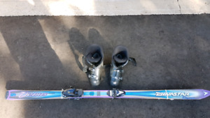 Used skis set