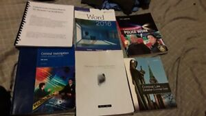Criminal justice textbooks