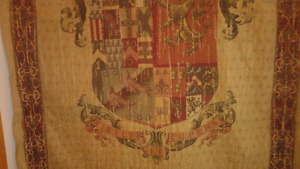 Rare tapestry from Europe Coat of Arms Knight design