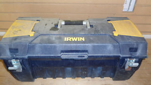 LARGE BLUE IRWIN TOOL CHEST - $20