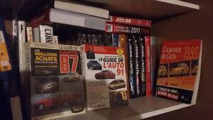 le guide de l'auto et autre livres automobiles (22 livres au tot