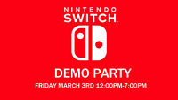Nintendo Switch Demo Party at Iceman Video Games