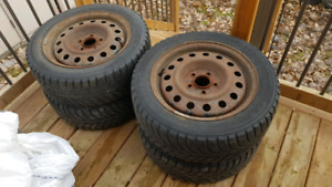 205/55 R16 winter tires on steel rims
