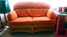 Conservatory or Patio Wicker sofa and chairs