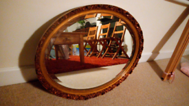 Oval repro mirror