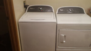 Whirlpool he washer and Dry Sensing Dryer like new
