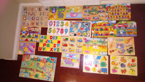 19 Wooden puzzles