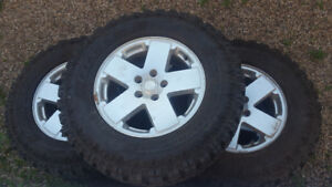 5 Tires and rims off 2010 Jeep wrangler