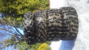 Set of new ATV tires