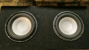 """10"""" subs I Infinity subs. Ported box."""