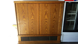 """Oak TV Caninet with 52"""" projection TV"""
