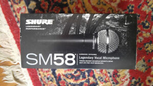 Shure SM58 Microphone, Stand, and Cables, Front A Band Today