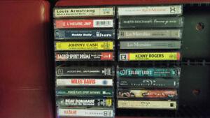 Plusieurs cassettes audio à 1$