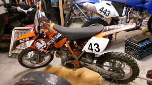 2006 KTM 85SX.great shape with 3 bed trailer