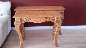 Solid pine wood couch tables