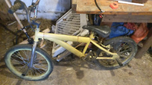 Moving sale tables bmx with 4pegs and xgames dirtbike style bike