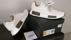 Adidas NMD R1 - Chalk and Olive - Size 9.5