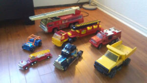 Old Tonka and Buddy L trucks