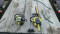 2 pioneer p26 chainsaws