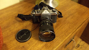 PENTAX 35mm SLR CAMERA WITH LENS