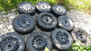 """Multpile tires with rims - 13, 14 & 15"""" Winters"""